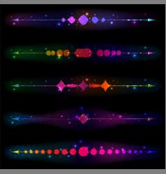 Glittering design elements vector