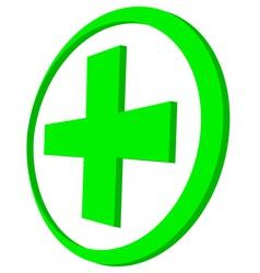 Green cross vector