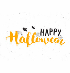 Halloween greeting card lettering calligraphy vector