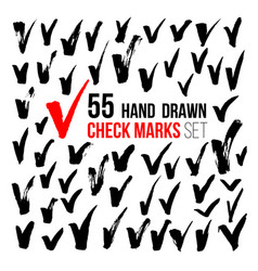 Hand drawn check marks vector