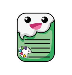 Happy and tender note paper kawaii vector