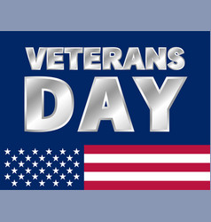 happy veterans day logo realistic style vector image