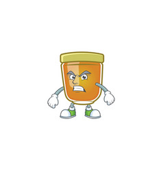 Honey in mascot annoyed on white background vector