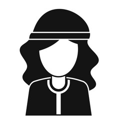 Hypnosis woman icon simple style vector