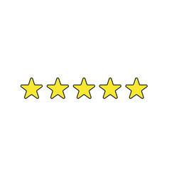 Icon five stars vector