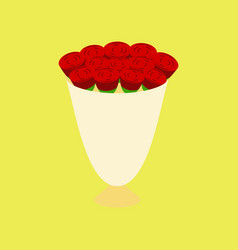 Icon in flat design bouquet of roses vector