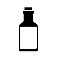 Isolated glass bottle vector