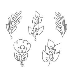 Leaf line art vector