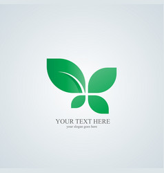 leaf logo ecology logo logo template suitable for vector image