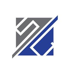 letters sc symbol vector image