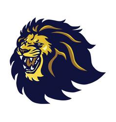 Lion head mascot roaring logo icon vector