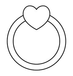 Love ring icon outline style vector