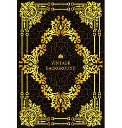luxury vintage border book cover vector image