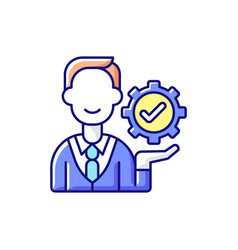 Management rgb color icon vector