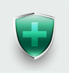 Medical protection healthcare shield with cross vector
