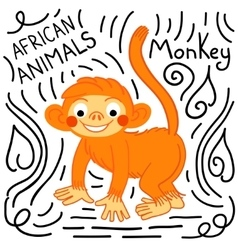 Monkey background isolated vector