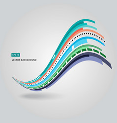Multi-color curve line abstraction vector