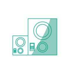 Music baffle speaker vector