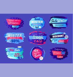 new offer discounts big winter sale collection ad vector image