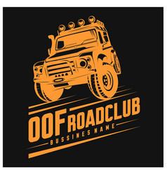 off-road car logo off-road 4x4 extreme car club vector image