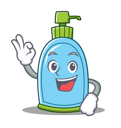 Okay liquid soap character cartoon vector
