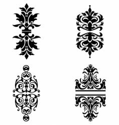 ornate design elements vector image vector image