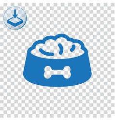 Pet dog feed icon vector