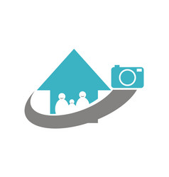 Photography service go home vector