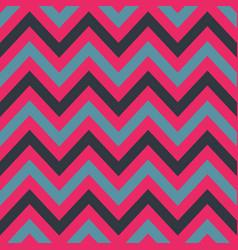 pink and blue chevron retro decorative pattern vector image