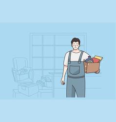 repairman and workman concept vector image