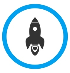 Rocket Start Flat Rounded Icon vector image