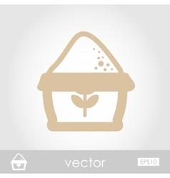 Sack of flour icon vector