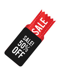 sale 50 off sale ribbon tag banner image vector image