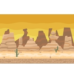 Seamless Desert Road Cactus Nature Concept Flat vector