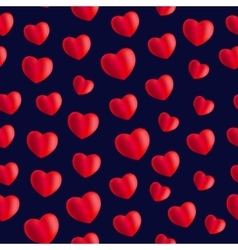 Seamless stylish red pattern with hearts vector image