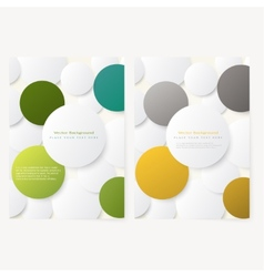 Set of abstract template flyer vector image