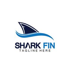 Shark fin logo design templateshark logo template vector