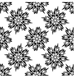 simple floral seamless pattern background vector image