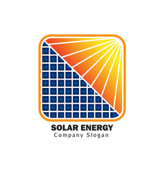 solar energy for green life vector image