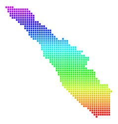 Spectrum dotted sumatra island map vector