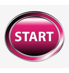 Start icon button vector
