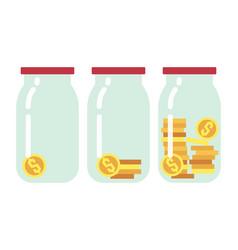 Step by saving money flat vector