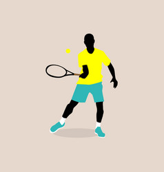 Stylish a tennis player vector