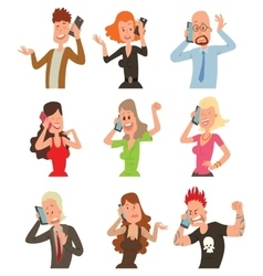 Successful professional business people talking vector image