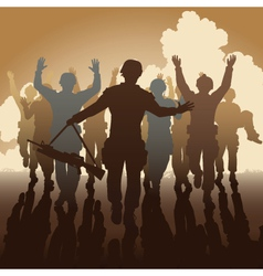 Surrender vector image vector image