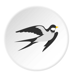 swallow icon circle vector image