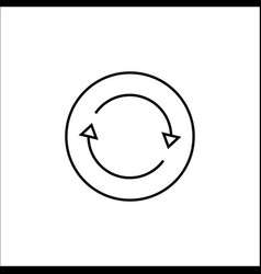 Synchronization line icon mobile sign and app vector