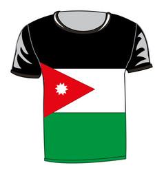 T-shirt with flag jordan vector
