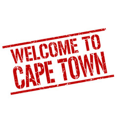 Welcome to cape town stamp vector