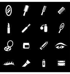 white cosmetics icon set vector image